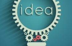 Gear Idea Bulb Vector