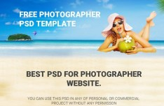 Photographer Web Template PSD