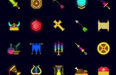 20 Fantasy Game Icons Vector