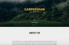 Carpathian One Page Template PSD