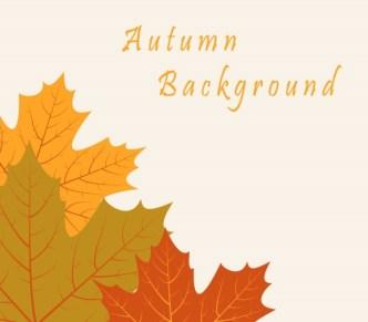 Vintage Autumn Leaves Background Vector