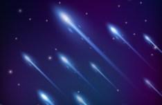Blue Meteors Background Vector