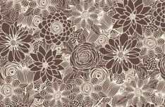 Brown Vintage Floral Background Vector