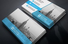 Creative Blue Business Card Templates PSD