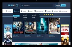 Phim3s Movie Website Template PSD