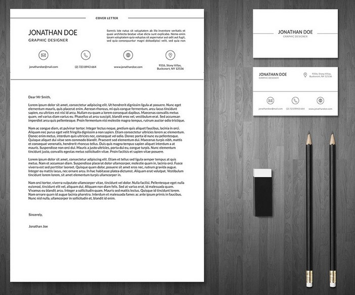 3 Piece Resume U0026 Business Card Templates PSD  Resume Business Cards