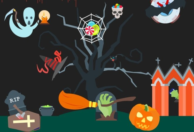 20 Halloween Holiday Icons Vector