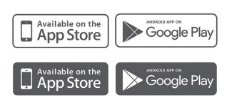 App Store & Google Play Badges Vector