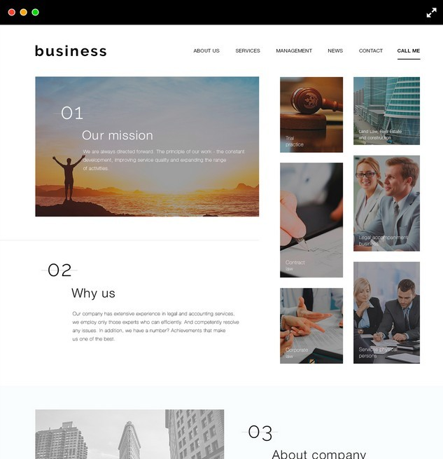 Minimal Responsive Website Template Psd For Free Download