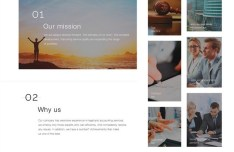 Minimal Responsive Business Web Template PSD