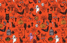 Vector Happy Halloween Pattern