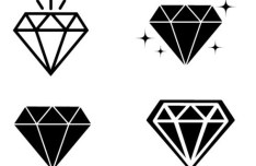 Minimal Diamond Icons