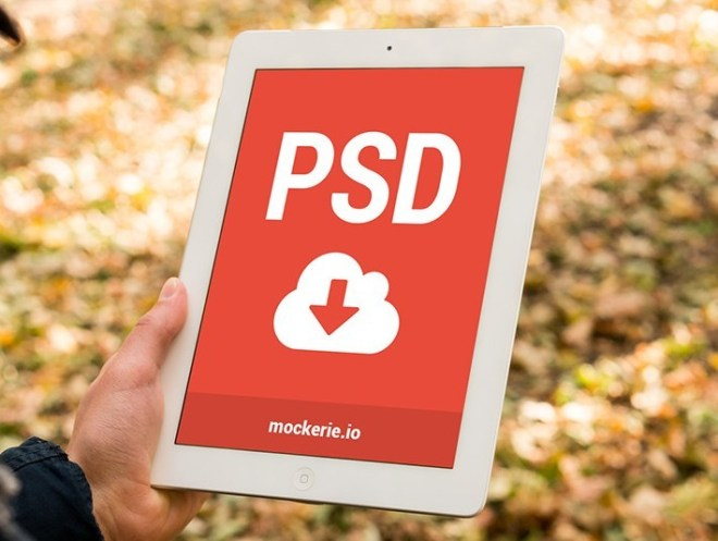 Minimal Photorealistic iPad Mockup PSD