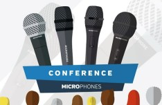 Conference Microphone Vector Illustration