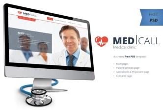 Medical Clinic Website Template PSD