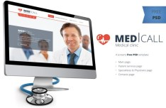 Medical Clinic Website Template PSD