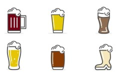 6 Vector Beer Icons