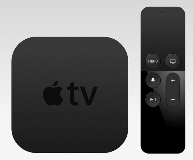 Apple TV + Remote Template PSD