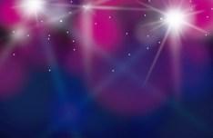 Purple Lights Bokeh Background Vector