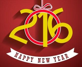 Happy New Year 2016 Elements Vector