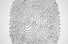 Digital Finger Print Vector