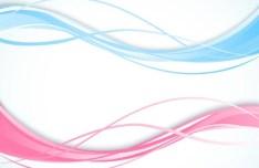 Pink & Blue Wavy Lines Vector