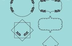 Elegant Border Set Vector