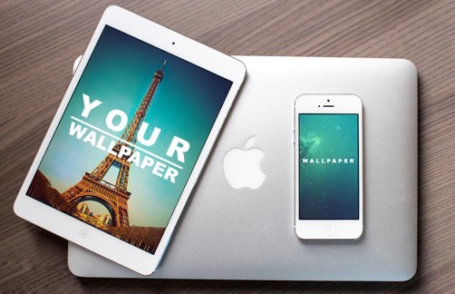 Realistic Apple Devices Mockup PSD
