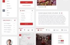 V Clean Web UI Kit PSD