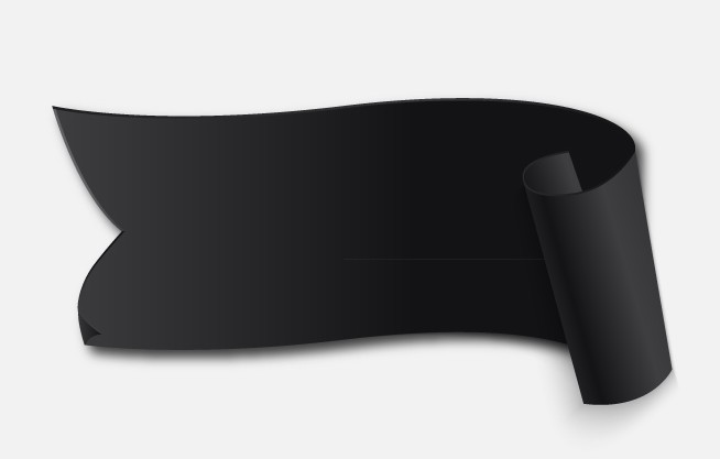 Black Curved Banner Vector