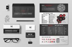Simple Resume & Branding Mockup PSD