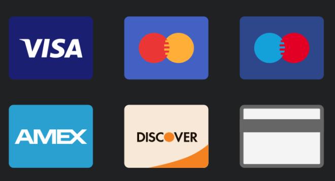 6 Super Flat Credit Card Icons