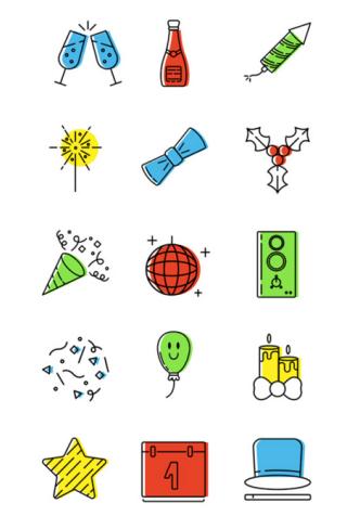 15 Small Christmas Icons