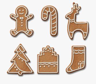 Gingerbread Cookies PSD