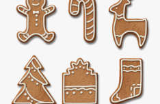 Gingerbread Cookies PSD