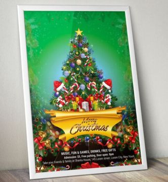 Nice Christmas Flyer Template PSD