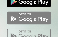 Google Play Badge Set Vector