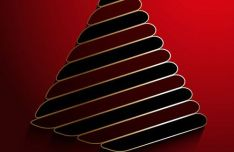 3D Christmas Tree Background Vector