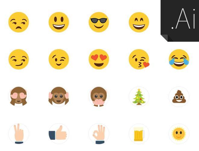 21 Custom Vector Emojis