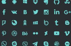 35 Social & App Icons PSD