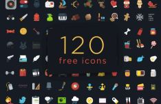 120 Colorful PSD Icons