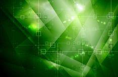 Green Hi-Tech Vector Background