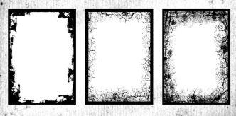20 High Resolution Grunge Frames PNG