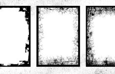 20 High Resolution Grunge Frames PNG