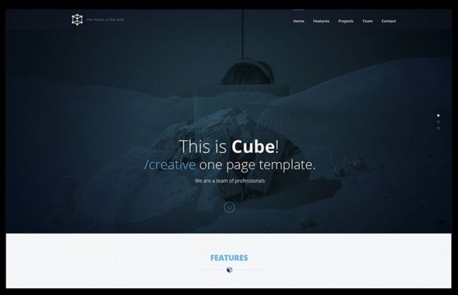 Cube Creative One Page Template PSD