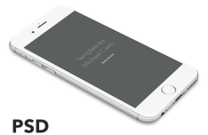 iPhone 6 Perspective Vector Template PSD
