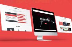 ADVENTURER Creative One Page Web Template PSD