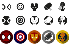Marvel Super Heroes Icon Font Vector
