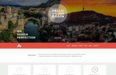 .ba Modern One Page Website Template PSD