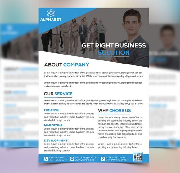 Free 3 Corporate Business Flyer Templates PSD - TitanUI